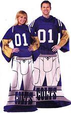 Indianapolis Colts throw blanket adult comfy sleeves Huddler Licensed NFL Unisex