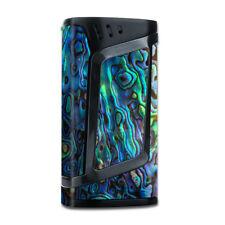 Skin Decal for  Smok Alien 220w TC Vape Mod / Abalone Shell Green Swirl Blue Go
