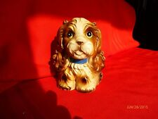 Norleans Cocker Spaniel Bank Puppy Ceramic Dog Bank Figurine Vintage Collectible