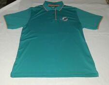 Miami Dolphin Mens Shirt Size Large Polo Nfl Antigua Shirt Aqua Blue