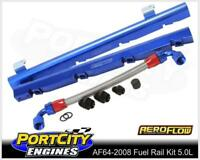 Aeroflow Alloy EFI Fuel Rail Kit Holden V8 304 355 VN VR VS VT Blue AF64-2008