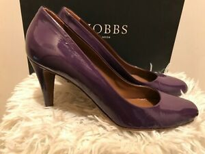 Hobbs High Holborn Purple Patent Leather Court Shoes UK 7 EUR 40 Boxed rrp £129