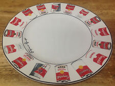 Dinner Plate Andy Warhol Block POP Black White Various Soup Cans Red Campbells