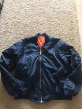 NAVY BUE AND ORANGE BOMBER JACKET REVERSIBLE