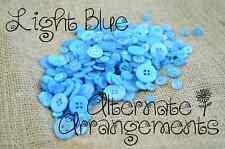 LIGHT BLUE - Mixed Bulk Buttons 250+ Craft Scrapbooking Bouquet Mixed Colours