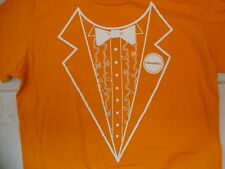 Dumb And Dumber To Movie Comedy Teaser Tuxedo Orange Cotton T Shirt Size XL