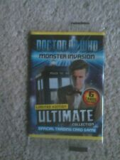 Dr who monster invasion ultimate cards Lt edition. one new pack