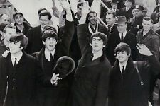 Beatles at JFK Airport Paul McCartney John Lennon George Harrison Ringo Postcard