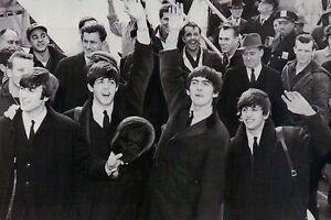 Beatles at JFK Airport Paul McCartney John Lennon George Harrison Ringo Postcard