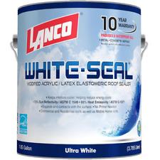 New listing 1 Gal. White-Seal Acrylic Elastomeric Reflective Roof Coating Rubberized Paint