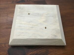"""6 fence post caps 5 inch square for 4"""" x 4"""" posts (handmade, wood, clearance)"""