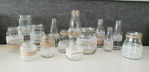 14 tlg. Set Deko Hochzeit, Geburtstag, Taufe vintage Tischdeko Vasen Gläser