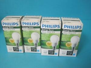 LOT OF 4 NEW PHILIPS LIGHT BULB LAMP EL/A SWP 9 9W WARM WHITE 2700K ENERGY SAVER