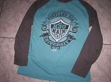"Cooles ""Here&There"" LA-Shirt , blau-grau mit Motiv, neuw. Gr.158/164"