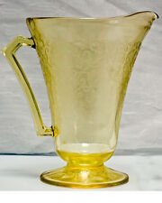 Vintage Yellow Florentine No. 2  Cone-footed 28 ounce Pitcher, Poppy No. 2