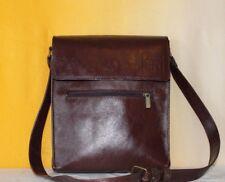 Borsello borsa tracollo uomo vera pelle artigianale marrone cuoio handmade italy