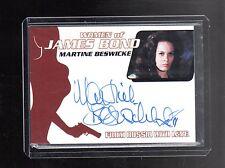James Bond Mission Logs WA47 Martine Beswicke auto card