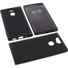 BOLSA para Sony Xperia XA2 Funda protectora de móvil TPU GOMA FUNDA NEGRA