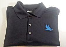 Nike Golf Dri-Fit Black Short Sleeve with Bright Blue Bird Emblem Sz Medium