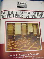 B. F. Goodrich Floor Tile 1951 Catalog Asbestos Flooring Vintage