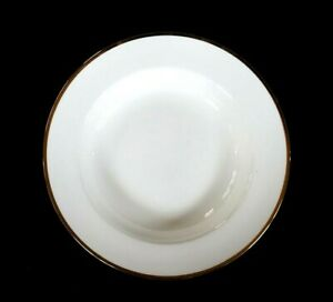 Beautiful Maxwell Williams White Gold Rimmed Soup Bowl