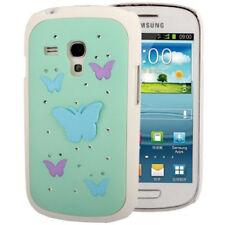Hardcase Strass für Samsung i8190 Galaxy S3 Mini Butterfly hellgrün Case Hülle