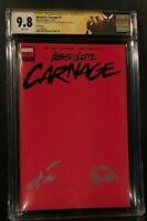 Absolute Carnage 1 1:200 Red Variant SS CGC 9.8 NM/MT Signed Cates and Stegman