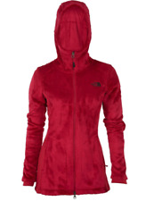 The North Face Women's Osito Parka Full Zip Fleece Jacket in cerise pink xs