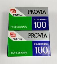 FUJIFILM COPPIA PELLICOLA PROVIA RDPII 135 FUJICHROME ISO 100 SCADUTE 10-1998