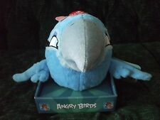 "7"" Angry Birds RIO blue bird new with tag, does not work"
