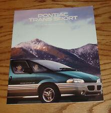 Original 1996 Pontiac Trans Sport Sales Brochure 96
