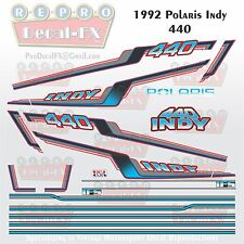 1992 Polaris 440 Indy Graphic Repro 20Pc Vinyl Decal Vintage Snowmobile Stickers