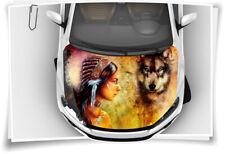 Indianer Dreamcatcher Wolf Spirit Motorhaube Auto-Aufkleber Folie Tuning Brush