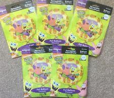 """Pack Of 5 Nick Junior SpongeBob Squarepants Patrick Star 18"""" Foil Party Balloons"""