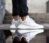 ADIDAS NMD R2 Primeknit white womens running boost trainers Size UK 7.5 Shoes