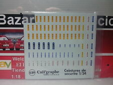 1:24  DECAL Safety Belts Seatbelts ONLY brands - CALL´graphe -  3L050