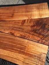 "Ultra Premium Curly Koa Wood Instrument Grade From Hawaii 3@17-24""x2-9""x1"""