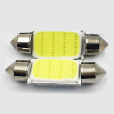2pcs COB36 39mm White Festoon Interior Dome LED Light Car Ceiling Lamp Bulbs