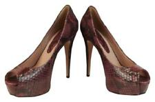 NIB GUCCI PURPLE WINE PYTHON LEATHER LILI PEEP TOE PLATFORM PUMPS 39 9 $1150