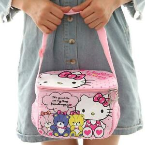 Cute Kitty Office School Picnic Insulated Cooler Lunch Box Bag Hand Bottles Bag