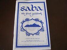 SIGNED NATALIE & PAUL PFANSTIEHL  SABA THE FIRST GUIDEBOOK SABA SUPPLEMENT 2 bks
