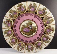 "Josef Kuba Bavaria J K W Fragonard Pink Courtship Display/Cabinet Plate 10.5"""