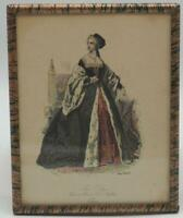 Antique Anne Bolelyn Print Lithograph Framed