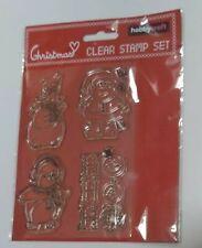 Hobbycraft Navidad transparente conjunto de sello - 4 Sellos Nuevos Navidad