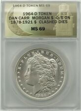 1964-D Morgan Dollar - ANACS MS69 - Clashed