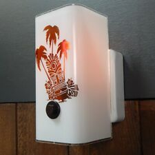Tiki Kitsch Mid Century Style Sconce Light Fixture With Rotary Switch