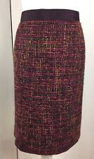 BODEN Notre Dame Purple Pink Wool Tweed Boucle Pencil Skirt Sz 18R WG511 Work