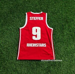 RHEINSTARS KÖLN #9 STEFFEN BUNDESLIGA BASKETBALL SHIRT JERSEY TRIKOT ADIDAS S