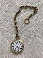 "Antique pocket watch LONGINES ""Memento mori"" with skull chain"