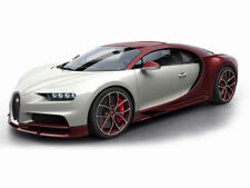 MR Collection Bugatti Chiron Red carbon / Glazier with Showcase 1/18